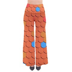 Roof Brick Colorful Red Roofing Pants