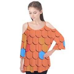 Roof Brick Colorful Red Roofing Flutter Tees