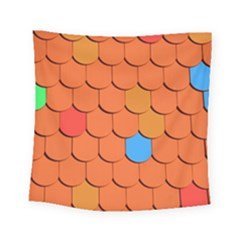Roof Brick Colorful Red Roofing Square Tapestry (Small)