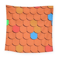 Roof Brick Colorful Red Roofing Square Tapestry (large)