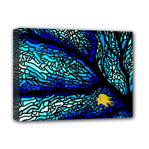 Sea Fans Diving Coral Stained Glass Deluxe Canvas 16  X 12