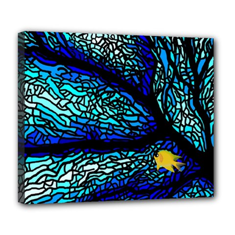 Sea Fans Diving Coral Stained Glass Deluxe Canvas 24  x 20