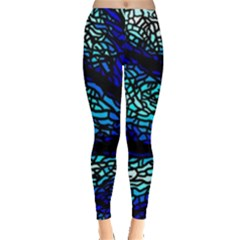 Sea Fans Diving Coral Stained Glass Leggings