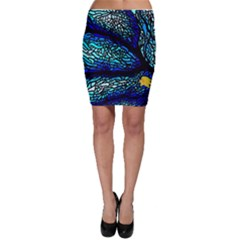 Sea Fans Diving Coral Stained Glass Bodycon Skirt