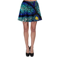 Sea Fans Diving Coral Stained Glass Skater Skirt
