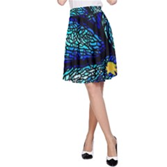 Sea Fans Diving Coral Stained Glass A-Line Skirt