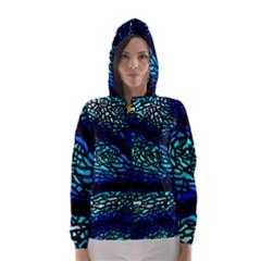 Sea Fans Diving Coral Stained Glass Hooded Wind Breaker (Women)