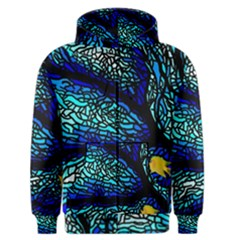 Sea Fans Diving Coral Stained Glass Men s Zipper Hoodie