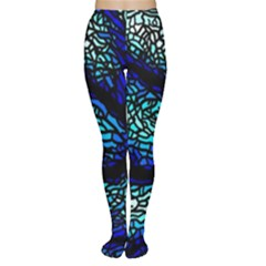 Sea Fans Diving Coral Stained Glass Women s Tights