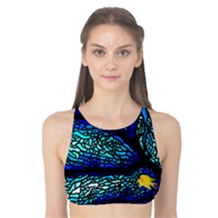 Sea Fans Diving Coral Stained Glass Tank Bikini Top