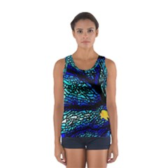 Sea Fans Diving Coral Stained Glass Women s Sport Tank Top
