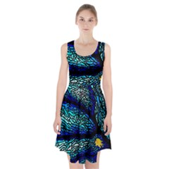 Sea Fans Diving Coral Stained Glass Racerback Midi Dress