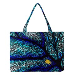 Sea Fans Diving Coral Stained Glass Medium Tote Bag