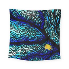 Sea Fans Diving Coral Stained Glass Square Tapestry (small)