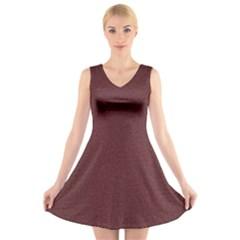 Seamless Texture Tileable Book V-Neck Sleeveless Skater Dress