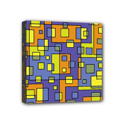 Square Background Background Texture Mini Canvas 4  x 4