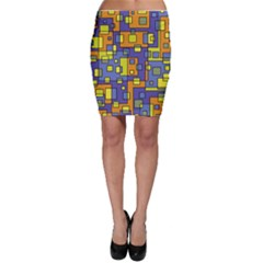 Square Background Background Texture Bodycon Skirt