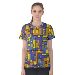 Square Background Background Texture Women s Cotton Tee