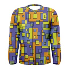 Square Background Background Texture Men s Long Sleeve Tee
