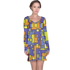 Square Background Background Texture Long Sleeve Nightdress