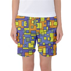 Square Background Background Texture Women s Basketball Shorts