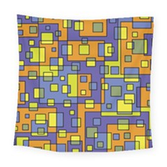 Square Background Background Texture Square Tapestry (Large)