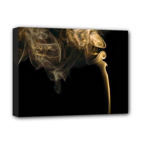Smoke Fume Smolder Cigarette Air Deluxe Canvas 16  x 12