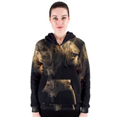 Smoke Fume Smolder Cigarette Air Women s Zipper Hoodie