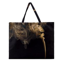 Smoke Fume Smolder Cigarette Air Zipper Large Tote Bag
