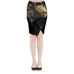 Smoke Fume Smolder Cigarette Air Midi Wrap Pencil Skirt