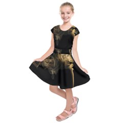 Smoke Fume Smolder Cigarette Air Kids  Short Sleeve Dress
