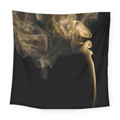 Smoke Fume Smolder Cigarette Air Square Tapestry (Large)