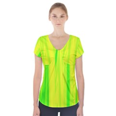 Shading Pattern Symphony Short Sleeve Front Detail Top