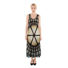Stained Glass Colorful Glass Sleeveless Maxi Dress