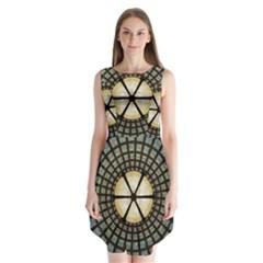 Stained Glass Colorful Glass Sleeveless Chiffon Dress