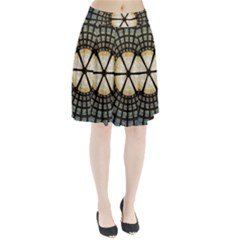 Stained Glass Colorful Glass Pleated Skirt