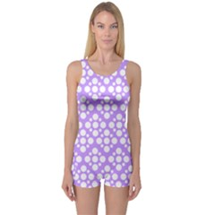 The Background Background Design One Piece Boyleg Swimsuit