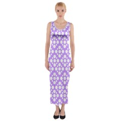 The Background Background Design Fitted Maxi Dress