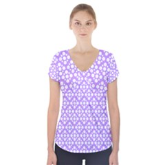 The Background Background Design Short Sleeve Front Detail Top