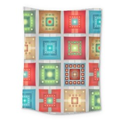 Tiles Pattern Background Colorful Medium Tapestry