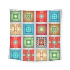 Tiles Pattern Background Colorful Square Tapestry (small)