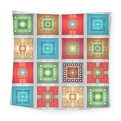 Tiles Pattern Background Colorful Square Tapestry (Large)