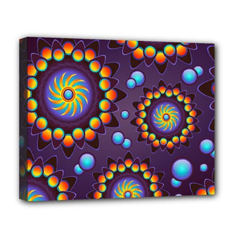 Texture Background Flower Pattern Deluxe Canvas 20  x 16