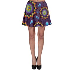 Texture Background Flower Pattern Skater Skirt