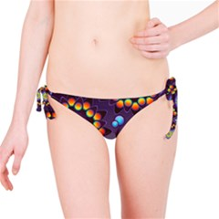 Texture Background Flower Pattern Bikini Bottom