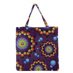 Texture Background Flower Pattern Grocery Tote Bag