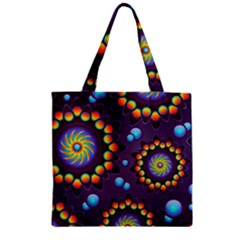 Texture Background Flower Pattern Zipper Grocery Tote Bag