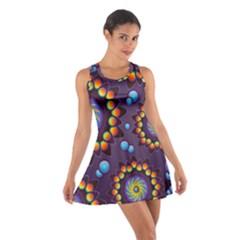 Texture Background Flower Pattern Cotton Racerback Dress