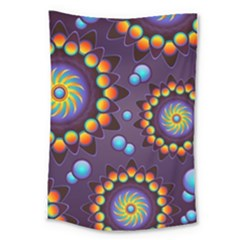Texture Background Flower Pattern Large Tapestry