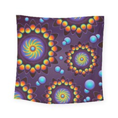 Texture Background Flower Pattern Square Tapestry (Small)